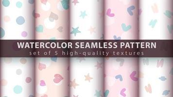 schattige roze naadloze patroon achtergrond instellen