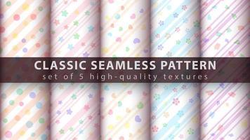 schattige delicate naadloze patroon achtergrond instellen met lijnen