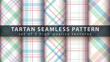 set van klassieke tartan naadloze patroon achtergrond