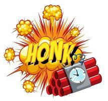 komische tekstballon met honk-tekst