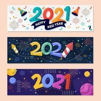 Nieuwjaar 2021 feestbanner