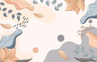 handgetekende florale achtergrond vector