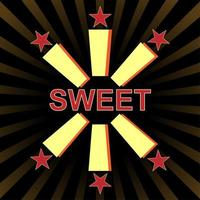 typografie slogan vintage met snoepje voor t-shirt afdrukken, grafische tee. vector illustratie