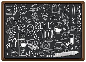 hand getekend schoolelement op schoolbord vector