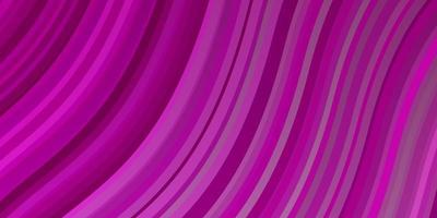 lichtroze vectorpatroon met gebogen lijnen.