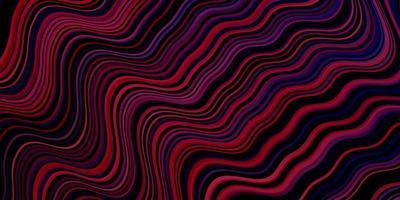 donkerpaarse vector sjabloon met wrange lijnen.