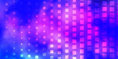 lichtroze, blauw vectorpatroon in vierkante stijl.