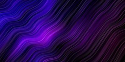 donkerpaarse vector achtergrond met gebogen lijnen.
