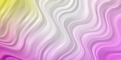 lichtroze, geel vectorpatroon met rondingen.