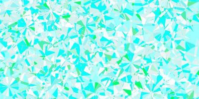 lichtblauwe, groene vectorlay-out met mooie sneeuwvlokken.