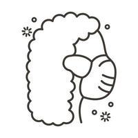vrouw met gezichtsmasker lijn stijlicoon