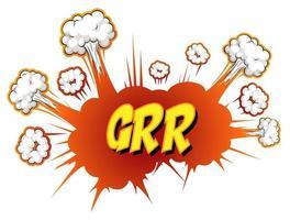 komische tekstballon met grr-tekst vector