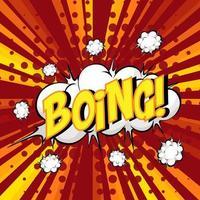 boing formulering komische tekstballon op burst vector