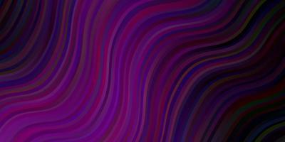 donkerroze vectorpatroon met krommen.