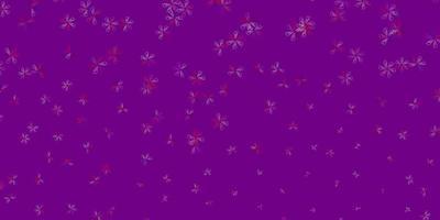 lichtblauwe, rode vector abstracte textuur met bladeren.