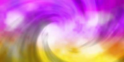 lichtroze, geel vector sjabloon met lucht, wolken.