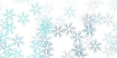 lichtblauwe vector abstracte lay-out met bladeren.