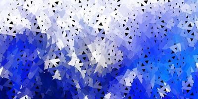 donkerblauwe vector poly driehoeksjabloon.
