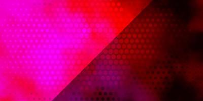 donkerpaarse, roze vector achtergrond met cirkels