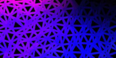 donkerroze, blauw vector geometrisch veelhoekig behang.