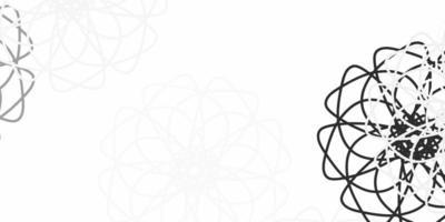 lichtgrijs vector natuurlijk kunstwerk met bloemen.