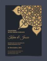 luxe mandala stijl bruiloft uitnodiging vector