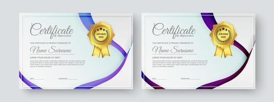 moderne diploma certificaatsjablonen ingesteld vector