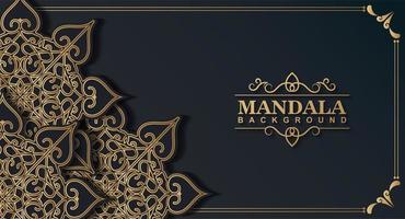donker gouden kleur mandala achtergrond concept vector
