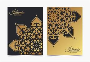 elegante islamitische omslag met mandala-concept vector