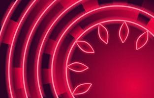 cirkel rood neon