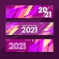 kleurrijke moderne vormen 2021 nieuwe jaarbannercollectie