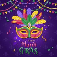 gelukkig mardi gras-festival vector