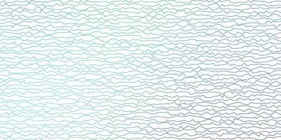 donkerblauw, groen vectorpatroon met gebogen lijnen.