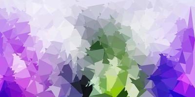 lichtroze, groen vector abstract driehoeksjabloon.