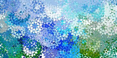lichtblauw vectorpatroon met veelhoekige stijl. vector