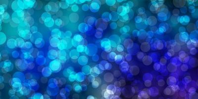 lichtblauwe, groene vectorlay-out met cirkels.
