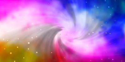 lichtroze, blauw vectorpatroon met abstracte sterren.