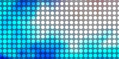 lichtroze, blauwe vectorachtergrond met cirkels.
