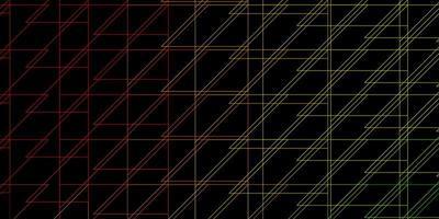 donkerroze, gele vectorachtergrond met lijnen.