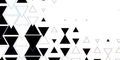 donkerblauwe, rode vectorachtergrond met lijnen, driehoeken.