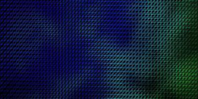 donkerblauw, groen vector sjabloon met lijnen.