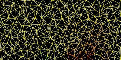 donkergroen, geel vector driehoek mozaïek patroon.