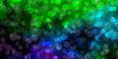 licht veelkleurige vectortextuur met schijven.