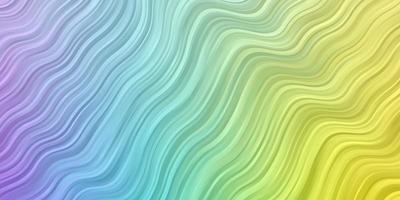 licht veelkleurige vector achtergrond met cirkelvormige boog.