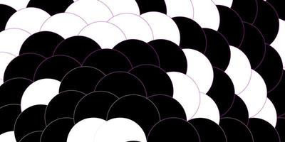 donkerpaarse, roze vectorlay-out met cirkelvormen.