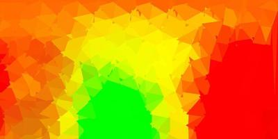 lichtgroene, rode vector abstracte driehoeksachtergrond.