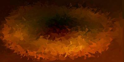 donkergroene, gele vector driehoek mozaïek achtergrond.