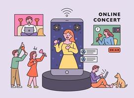coronavirus tijdperk. online concert