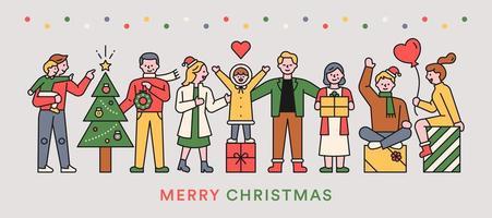 vrolijk kerstfeest mensen