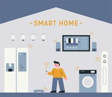 slimme huistechnologie vector